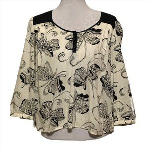 Anthropologie Butterfly Blouse